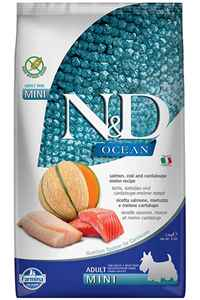 ND Ocean Tahılsız Somon Morina Balığı ve Kavunlu Küçük Irk Yetişkin Köpek Maması 2,5kg