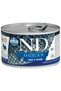 ND Ocean Tahılsız Alabalık ve Somonlu Yetişkin Köpek Konservesi 140gr