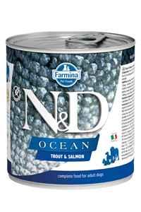 ND Ocean Tahılsız Alabalık ve Somonlu Yetişkin Köpek Konservesi 285gr