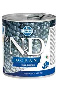 ND Ocean Tahılsız Morina Balığı ve Balkabaklı Yetişkin Köpek Konservesi 285gr