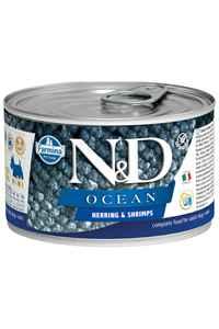 ND Ocean Tahılsız Ringa Balığı Ringa Balığı ve Karidesli Yetişkin Köpek Konservesi 140gr