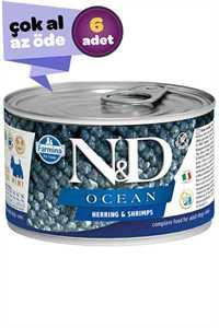 ND Ocean Tahılsız Ringa Balığı Ringa Balığı ve Karidesli Yetişkin Köpek Konservesi 6x140gr (6lı)
