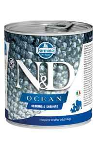 ND Ocean Tahılsız Ringa Balığı ve Karidesli Yetişkin Köpek Konservesi 285gr