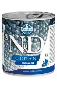 ND Ocean Tahılsız Somon ve Morina Balıklı Yetişkin Köpek Konservesi 285gr