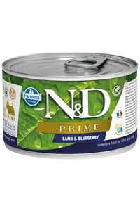 ND Prime Tahılsız Kuzu Eti ve Yaban Mersinli Yetişkin Yetişkin Köpek Konservesi 140gr
