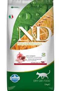 ND Tahılsız Tavuk ve Narlı Kısırlaştırılmış Kedi Maması 10kg