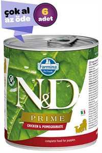 ND Prime Tahılsız Tavuk ve Narlı Yavru Köpek Konservesi 6x285gr (6lı)