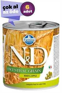 ND Prime Tahılsız Yaban Domuzu ve Elmalı Yetişkin Köpek Konservesi 6x285gr (6lı)