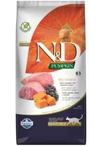 ND Pumpkin Tahılsız Kuzu Eti ve Yaban Mersinli Kısırlaştırılmış Kedi Maması 5kg