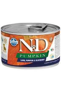 ND Pumpkin Starter Tahılsız Kuzu Eti Balkabağı ve Yaban Mersinli Yavru Köpek Konservesi 140gr