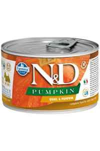 ND Pumpkin Tahılsız Bıldırcın Eti ve Balkabaklı Yetişkin Köpek Konservesi 140gr