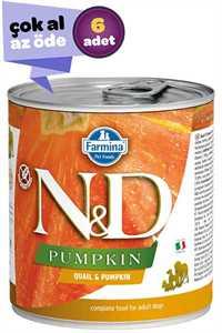 ND Pumpkin Tahılsız Bıldırcın ve Balkabaklı Yetişkin Köpek Konservesi 6x285gr (6lı)