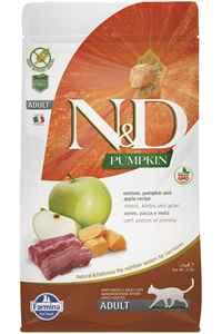 ND Pumpkin Tahılsız Geyik Eti Balkabağı ve Elmalı Yetişkin Kedi Maması 1,5kg