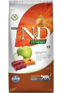 ND Pumpkin Tahılsız Geyik Eti Balkabağı ve Elmalı Yetişkin Kedi Maması 5kg