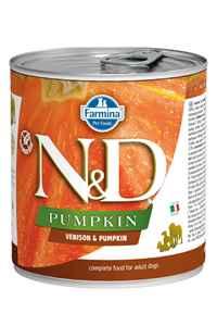 ND Pumpkin Tahılsız Geyik Eti ve Balkabaklı Yetişkin Köpek Konservesi 285gr