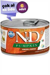 ND Pumpkin Tahılsız Geyik Eti ve Balkabaklı Yetişkin Köpek Konservesi 6x140gr (6lı)