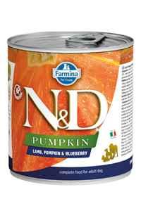 ND Pumpkin Tahılsız Kuzu Eti Balkabağı ve Yaban Mersinli Yavru Köpek Konservesi 285gr