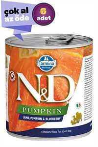 ND Pumpkin Tahılsız Kuzu Eti Balkabağı ve Yaban Mersinli Yavru Köpek Konservesi 6x285gr (6lı)