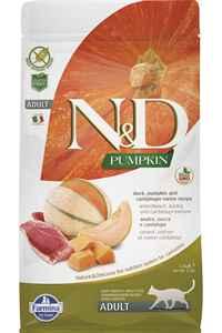 ND Pumpkin Tahılsız Ördek Eti Balkabağı ve Kavunlu Yetişkin Kedi Maması 1,5kg