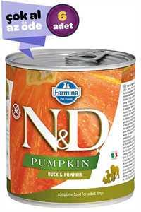 ND Pumpkin Tahılsız Ördek Eti ve Balkabaklı Yetişkin Köpek Konservesi 6x285gr (6lı)