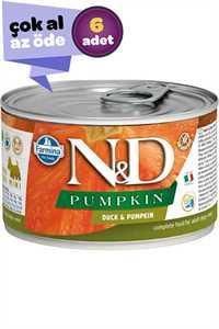 ND Pumpkin Tahılsız Ördek ve Balkabaklı Yetişkin Köpek Konservesi 6x140gr (6lı)