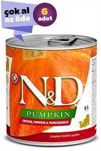 ND Pumpkin Tahılsız Tavuk Balkabağı ve Narlı Yavru Köpek Konservesi 6x285gr (6lı)