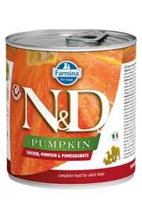 ND Pumpkin Tahılsız Tavuk Balkabağı ve Narlı Yetişkin Köpek Konservesi 285gr