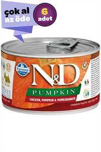 ND Pumpkin Tahılsız Tavuk Balkabağı ve Narlı Yetişkin Köpek Konservesi 6x140gr (6lı)