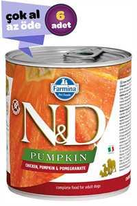 ND Pumpkin Tahılsız Tavuk Balkabağı ve Narlı Yetişkin Köpek Konservesi 6x285gr (6lı)
