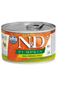 ND Pumpkin Tahılsız Yaban Domuzu ve Balkabaklı Yetişkin Köpek Konservesi 140gr