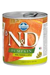 ND Pumpkin Tahılsız Yaban Domuzu ve Balkabaklı Yetişkin Köpek Konservesi 285gr