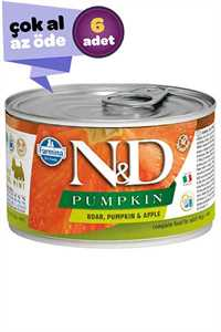 ND Pumpkin Tahılsız Yaban Domuzu ve Balkabaklı Yetişkin Köpek Konservesi 6x140gr