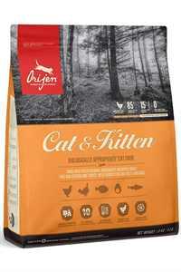Orijen Cat & Kitten Tahılsız Yavru ve Yetişkin Kedi Maması 340gr