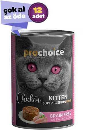 Pro Choice Kitten Tavuklu Yavru Kedi Konservesi 12x400gr (12li)