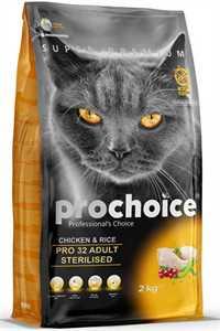 Pro Choice Pro 32 Tavuk ve Pirinçli Kısırlaştırılmış Yetişkin Kedi Maması 2kg