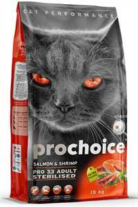 Pro Choice Pro 33 Somon ve Karidesli Kısırlaştırılmış Yetişkin Kedi Maması 15kg