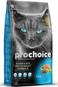 Pro Choice Pro 34 Somon ve Pirinçli Yetişkin Kedi Maması 2kg