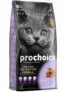Pro Choice Pro 38 Kitten Kuzu Eti ve Pirinçli Yavru Kedi Maması 2kg
