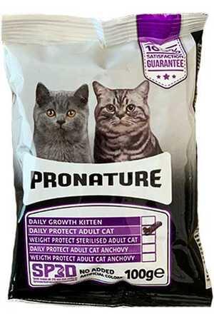 Pronature Daily Protect Hamsili ve Pirinçli Yetişkin Kedi Maması 100gr