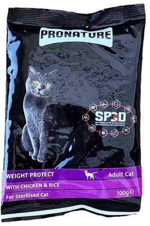 Pronature Weight Protect Kilo Kontrolü İçin Tavuklu Kısırlaştırılmış Kedi Maması 100gr