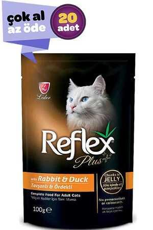 Refleks Plus Tavşan ve Ördek Etli Kedi Konservesi 20x100gr (20li)