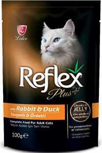 Refleks Plus Tavşan ve Ördek Etli Kedi Konservesi 100gr