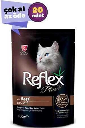 Reflex Plus Biftekli Kedi Konservesi 20x100gr (20li)