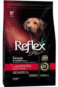 Reflex Plus Kuzu Eti ve Pirinçli Orta ve Büyük Irk +7 Yaşlı Köpek Maması 3kg