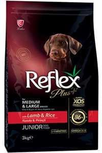 Reflex Plus Kuzu Eti ve Pirinçli Orta ve Büyük Irk Yavru Köpek Maması 3kg