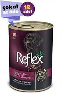 Reflex Plus Kuzulu Karaciğerli Yetişkin Köpek Konservesi 12x415gr (12li)