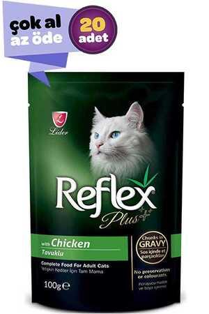 Reflex Plus Tavuklu Kedi Konservesi 20x100gr (20li)