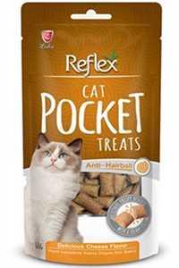 Reflex Pocket Anti Hairball Sığır Etli Ve Maltlı Kedi Ödülü 60gr