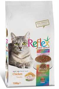 Reflex Renkli Taneli Yetişkin Kedi Maması 1,5kg