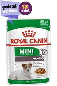 Royal Canin Mini +12 Ageing Pouch Yaşlı Köpek Konservesi 12x85gr (12li)